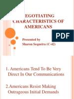Negotiating Characteristics of Americans