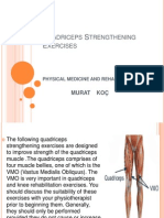 Quadriceps Strengthening Exercises