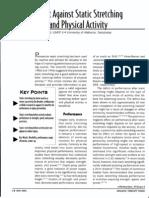 BeforeSportandPhysical Activity