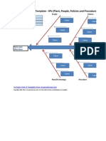 SixSigma FishBone Diagram Template in Microsoft Excel 4Ps