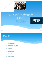 Quality of Working Life (QWL)