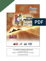 Clasificaciones Oficiales Etapa 2 Vuelta al Mundo Maya