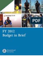 Homeland Security Budget