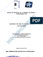 Manual de Procesos Dyd Sport
