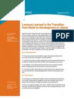 InterAction Transition Checklist - Liberia - May2012