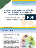 Formação continuada para a Gestão de Polos de EaD – priorização de problemas e estratégias