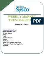 Weekly Market Trends Report Nov. 16 12