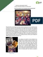 Quepos Monthly Achievement Report Nov 2012