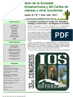 Boletin de Cactaseas y Suculentas de Mexico y El Caribe
