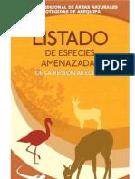 Cuadernillo_Listado de Especies Amenazadas de la región Arequipa
