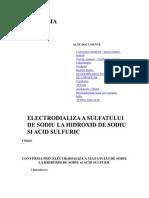 Conversia Prin Electrodializa a Sulfatului de Sodiu La Hidroxid de Sodiu Si Acid Sulfuric