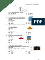 Ficha Trigonometria - escolha múltipla