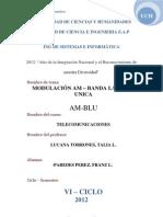 Modulacion Am Banda Lateral Unica(Am-blu) - Isi -Telecomunicaciones-(Franz Paredes Perez)