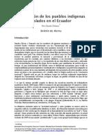 La Situacion de Los Pueblos Indigenas Aislados en El Ecuador