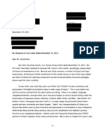 2012.11.19 Response to Letter Dated November 15, 2012