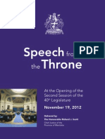 Throne Speech 2012