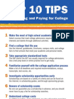 Top 10 Tipsheet for Planning and Paying for College