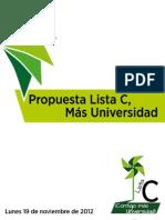 Propuesta Lista C