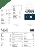 Townsite Cafe menu