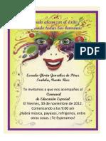 Invitacion Actividad Educación Especial