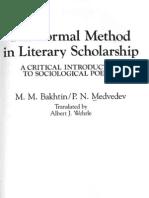 Bakhtin_Formal Method in European Art Scholarship