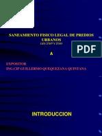 Curso Nacional de Saneamiento Fisico Legal de Predios Urbanos Ley 27157 y 27333 Colegio de Arquitectos Del Peru - Dias 16, 17, 18, 19 de Julio Del 2012_1