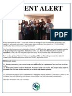 UNAC Leaflet on Kaiser Permanente's Layoffs of Healthcare Workers in California 11-16-12
