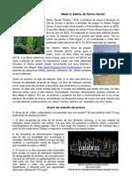 Guión de traballo da lectura Made in Galiza, de Séchu Sende