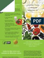 Equivalencias Frutas y Verduras