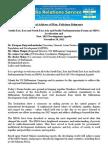 SFB Speech MDG Regional Parliamentarian Forum 112012
