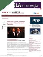 17-11-12 Reto Diario - Asiste RMV a primer informe del gobernador Roberto Sandoval Castañeda