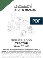 Cub Cadet GT3200 Manual