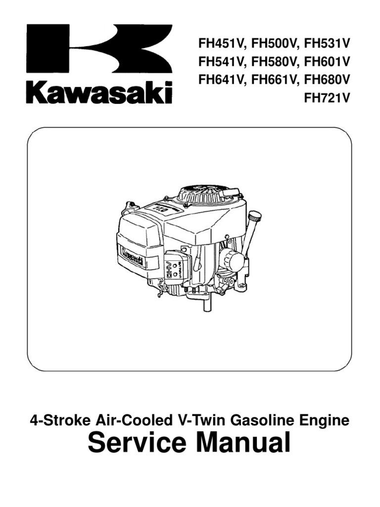 Kawasaki Fh541v Service Manual Screw Carburetor Engine Mounting Diagrams