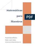 Matematicas Para Maestros