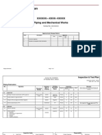 Inspection Test Plan- Piping Fabrication