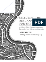 Selecting the Best Analyst - Appendix F