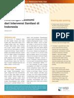 Penelitian Keuntungan Ekonomi dari Intervensi Sanitasi di Indonesia