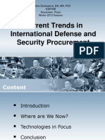 Current Trends in International Defense and Security Procurement Lecture (Bachelors Degree)