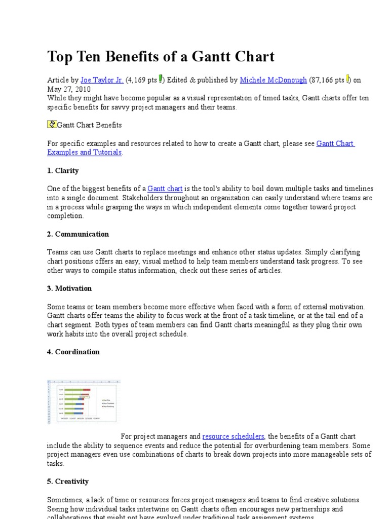 Benefits Of Gant T Chart Technology Computing