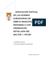 MODIFICACIÓN PUNTUAL DAS NORMAS SUBSIDIARIAS DO AMBITO MUNICIPAL DE REDONDELA CON ORDENACIÓN DETALLADA DO SECTOR 1. PETÁN