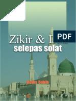 Zikir / Wirid / Doa Selepas Solat (Sembahyang Fardhu) yang Benar