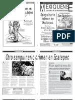 Versión impresa del periódico El mexiquense 20 de noviembre 2012
