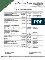 MSc Admission Schedule1213