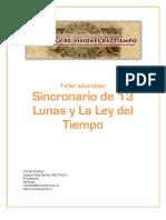 Programa Taller Ley Del Tiempo y Calendario 13 Lunas