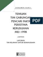Seri Dokumen Kunci 2; Temuan Tim Gabungan Pencari Fakta Peristiwa Kerusuhan Mei 1998