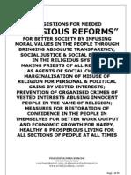 RELIGIOUS REFORMS IN INDIA