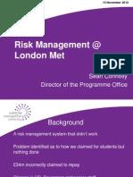 Risk Lecture Nov 2012