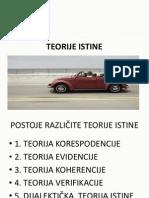 TEORIJE ISTINE