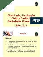 Dissolução, liquidação, cisão e fusão de sociedades comerciais_2011