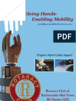 Giving Hands Enabling Mobility Progress Report (July-August)